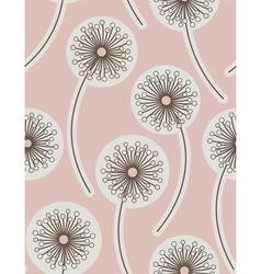 dandelion seamless floral background vector image vector image