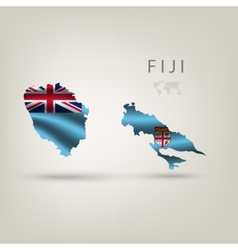 Flag of FIJI as a country with a shadow vector image vector image