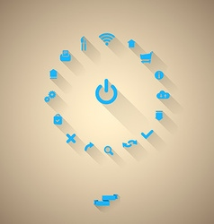 Icons Layout vector image vector image