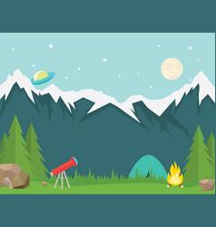 natural landscape vector image