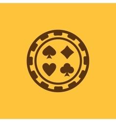 The casino chip icon Casino Chip symbol Flat vector image