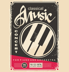 classical music concert for piano and orchestra re vector image