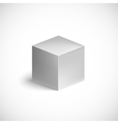 Grey cube on white background vector image