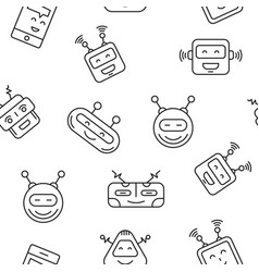 robot seamless pattern vector image vector image