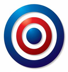tricolor target vector image vector image