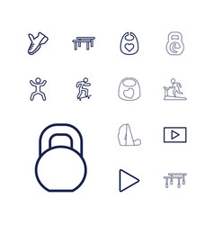 13 active icons vector