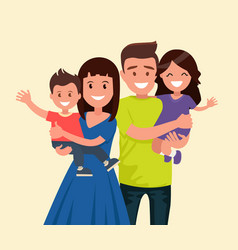 a happy family vector image