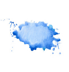 Abstract blue watercolor hand painted texture vector