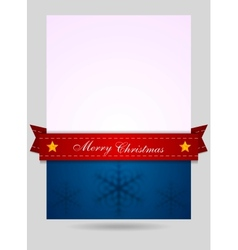 Abstract Christmas flyer background vector