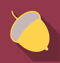 Acorn flat icon nut and food graphics a colorful vector