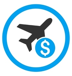 Airplane Price Rounded Icon vector