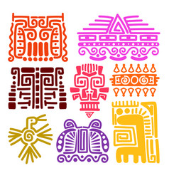American indians ancient totems vector