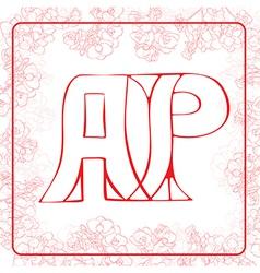 AP monogram vector