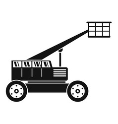 Basket lift truck icon simple style vector