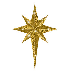 bethlehem christmas golden star isolated on white vector image