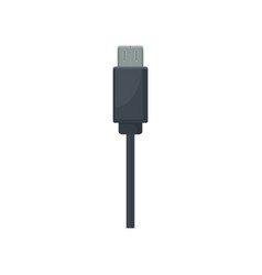 black usb cable item for charging mobile phone or vector image