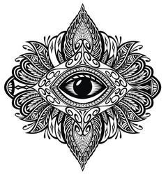 blackwork tattoo vector image