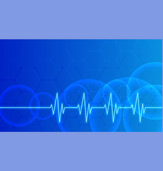 Blue healthcare and medical science background vector