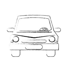 Blurred silhouette front view car vector