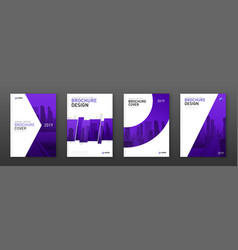 brochure cover design layout set for business vector image