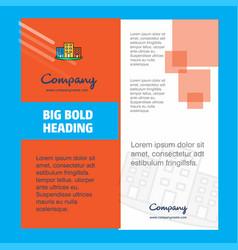 buildings company brochure title page design vector image