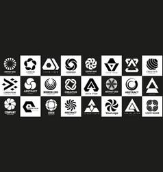 business logotypes diverse modern logo templates vector image