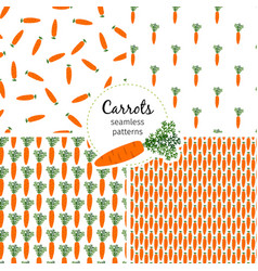 carrot seamless pattern healthy vegetable vector image