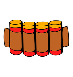 Cartridges hunting ammunition icon icon cartoon vector