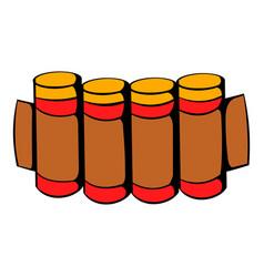 cartridges hunting ammunition icon icon cartoon vector image