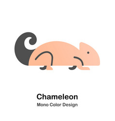 Chameleon mono color icon vector