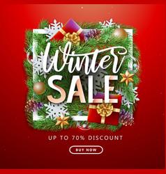 christmas holiday winter big sale poster vector image