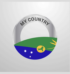 Christmas island my country flag badge vector