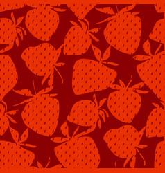 classic minimal strawberry seamless pattern vector image