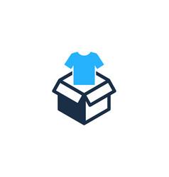 Cloth box logo icon design vector