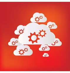 Cloud application settings web icon vector