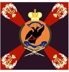 Colored flag of the Moscow Grenadier Regiment vector image