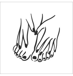 concept of hands with manicure vector image