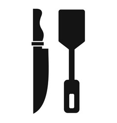 Cooking knife spatula icon simple style vector