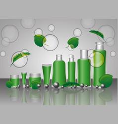 cosmetics makeup template vector image