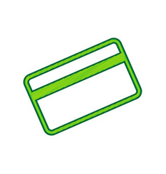 credit card symbol for download lemon vector image