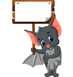 Cute bat cartoon vector