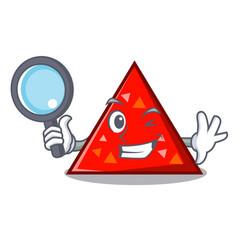 Detective triangel character cartoon style vector
