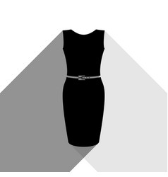 dress sign black icon with vector image