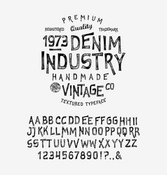 Font denim industry vector