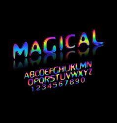 fun english alphabet vector image