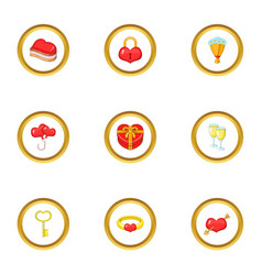 gift icons set cartoon style vector image
