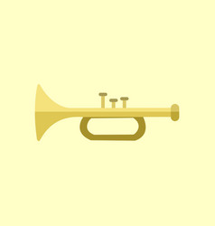 Golden trumpet instrument graphic vector