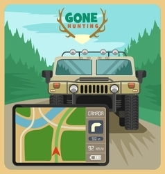Gone hunting gps vector