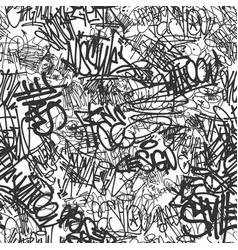 Graffiti tags seamless pattern print design vector