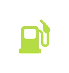 green gas station filling petrol-station logo vector image